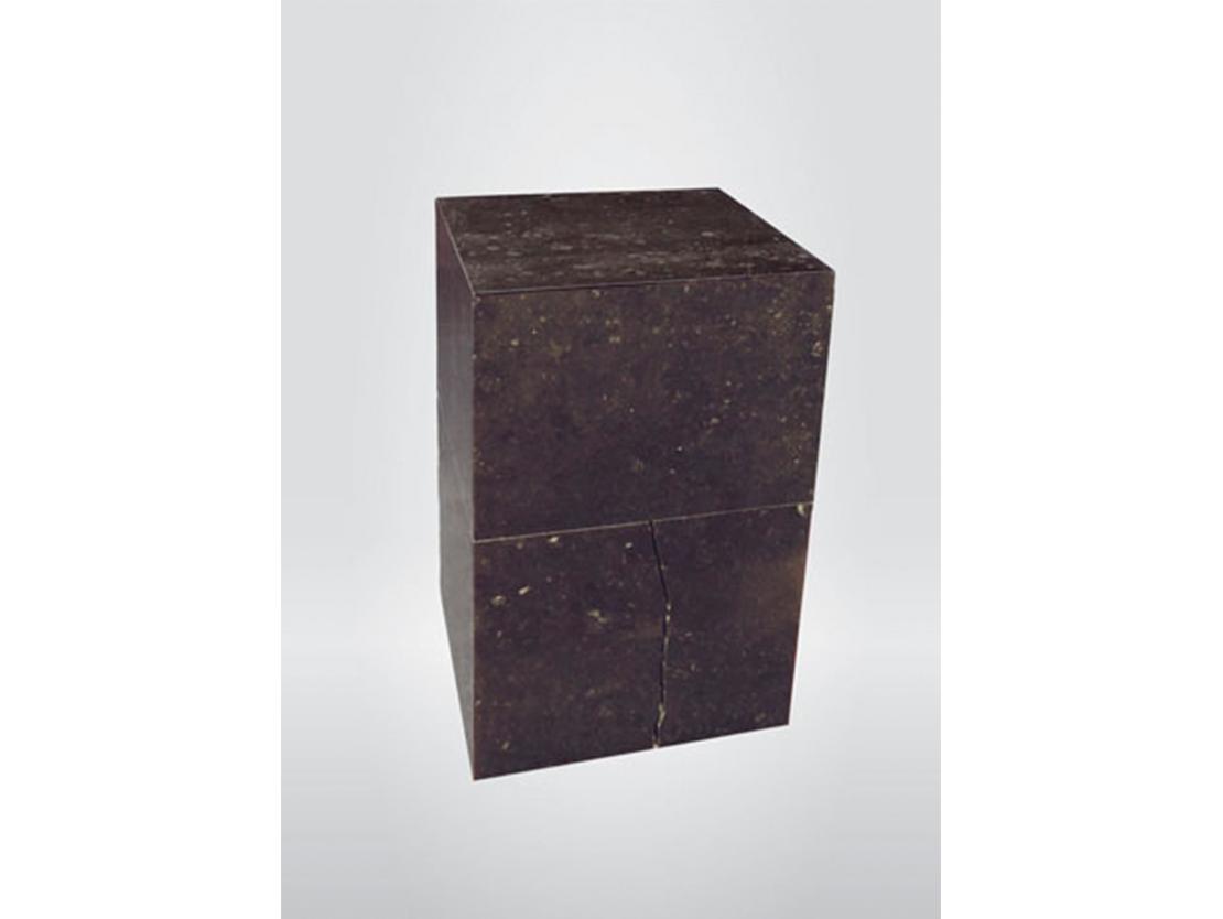 Titel: Zelfportret nr. 3 Materiaal: Belgisch hardsteen Formaat: 32 cm hoog
